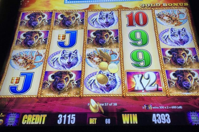 Buffalo Gold by Aristocrat 80x hit in bonus