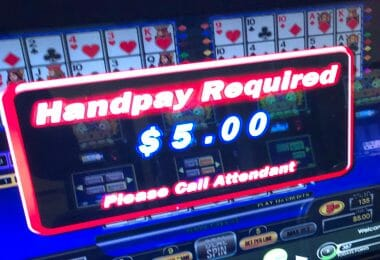 Video Poker $5 handpay required