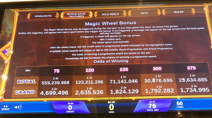 It's Magic: Amber by IGT Magic Wheel Bonus info