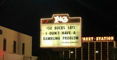 Plaza Las Vegas outside marquee