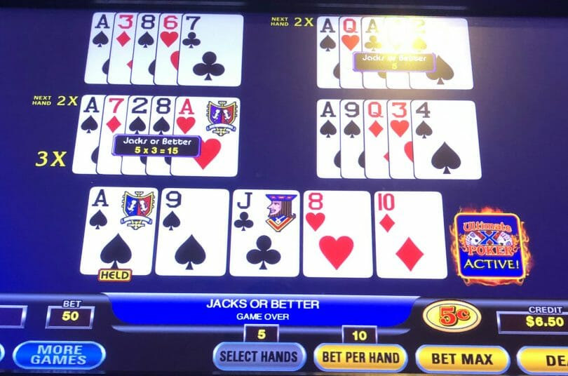 Ultimate X Poker by IGT hand two