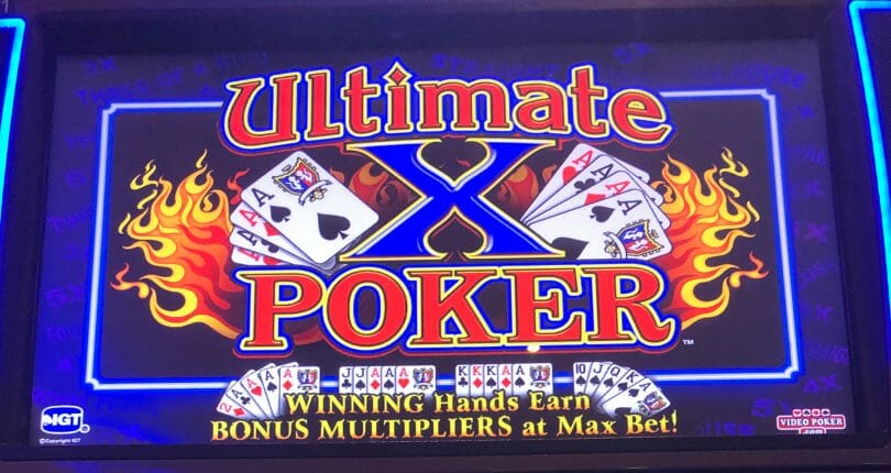 Ultimate X A Classic Video Poker Advantage Play Know Your Slots