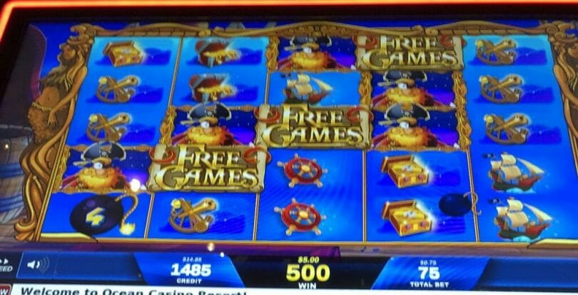Wild Pirates by IGT free spins triggered