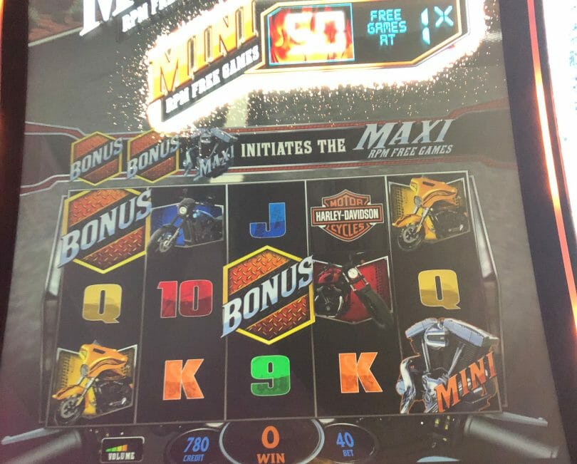Harley Davidson by IGT mini free games awarded