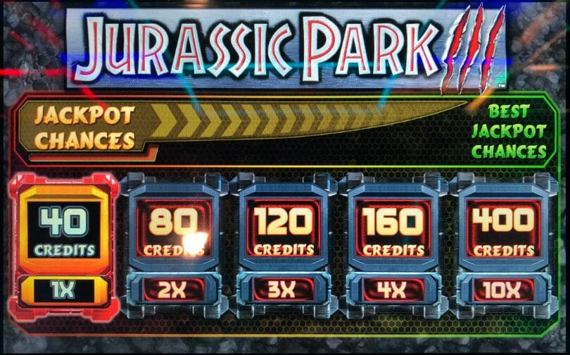 Jurassic Park by IGT bet panel
