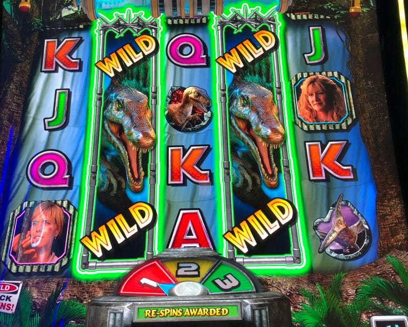 Jurassic Park by IGT wild reels respin