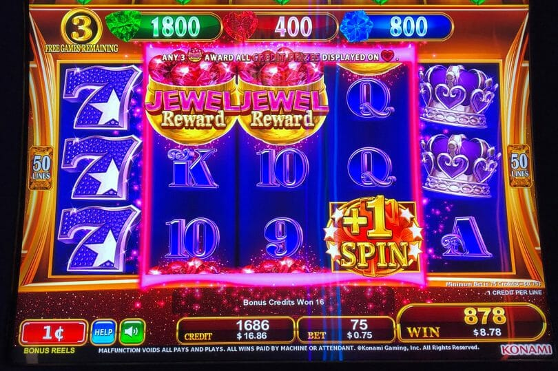 Jewel Reward by Konami free spins extra spin