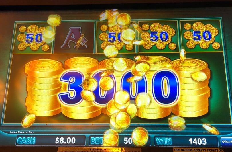 Lock it Link by Shuffle Master Piggy Bankin bonus win