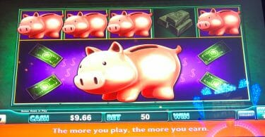 Lock it Link by Shuffle Master Piggy Bankin spins complete