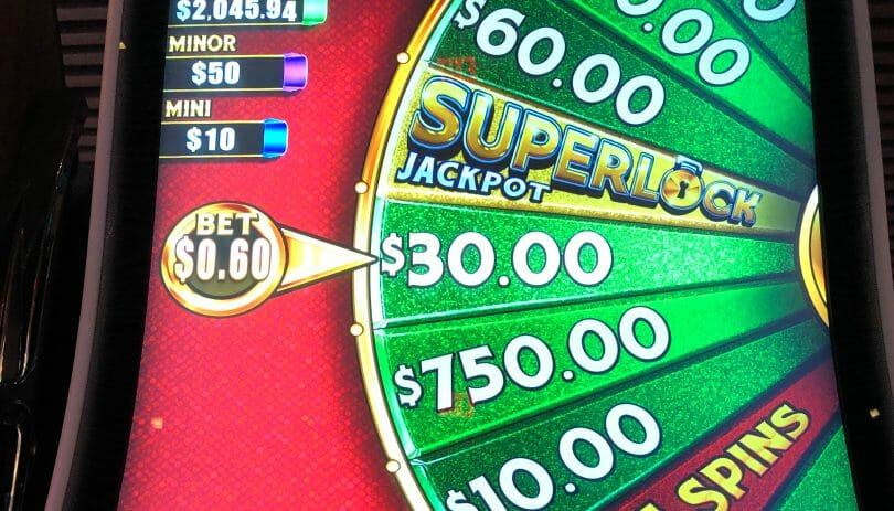 Lock it Link by Scientific Games Superlock Jackpot wheel