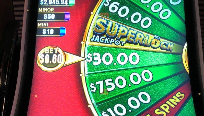 Lock it Link by Scientific Games Superlock Jackpot wheel
