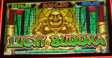 Lucky Buddha by IGT top screen