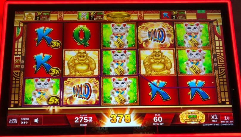 Lucky Buddha multiplied win