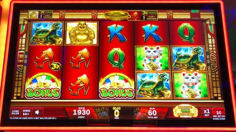 Lucky Buddha by IGT two bonus symbols