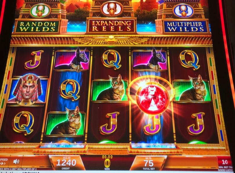 Magic of the Nile by IGT red gem awarded