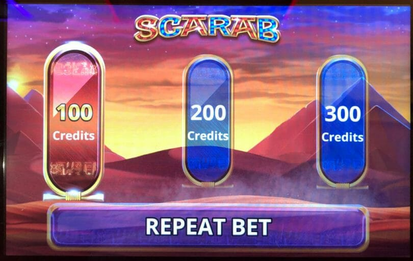 Scarab Grand by IGT bet panel