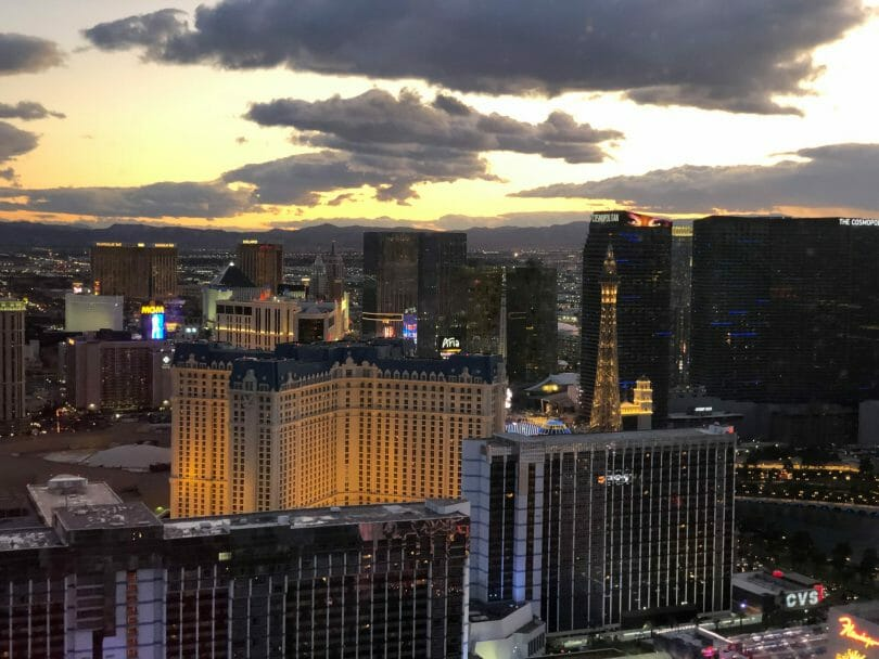 Las Vegas skyline from High Roller