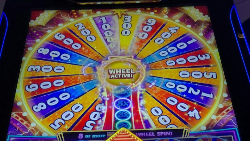 Quick Spin Super Lit Vegas by Ainsworth wheel
