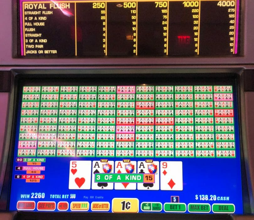 Video Poker misprogrammed paytable