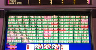 Video Poker misprogrammed paytable