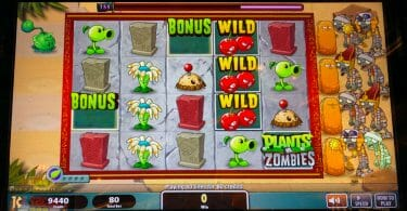 Plants vs Zombies 3D by Spielo two bonus symbols