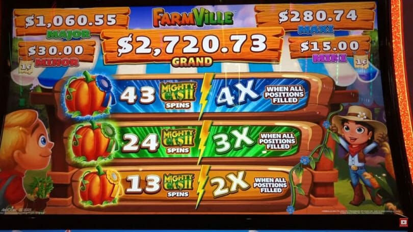 Farmville by Gimmie Games/Aristocrat multipliers