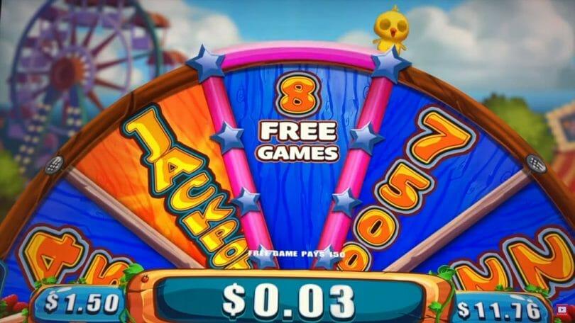 Farmville by Gimmie Games/Aristocrat wheel bonus spin