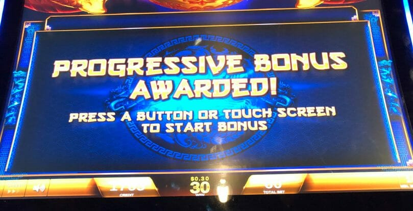 Fortune Coin by IGT progressive awarded