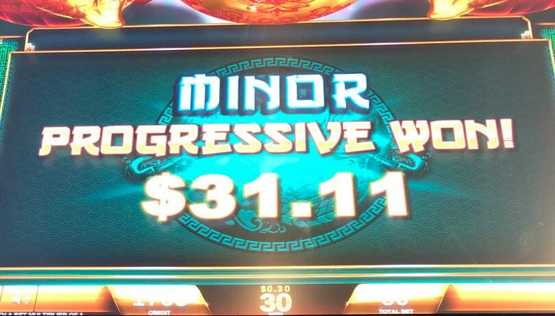 Fortune Coin by IGT minor progressive