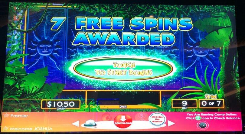 Jungle Wild by WMS free spins bonus