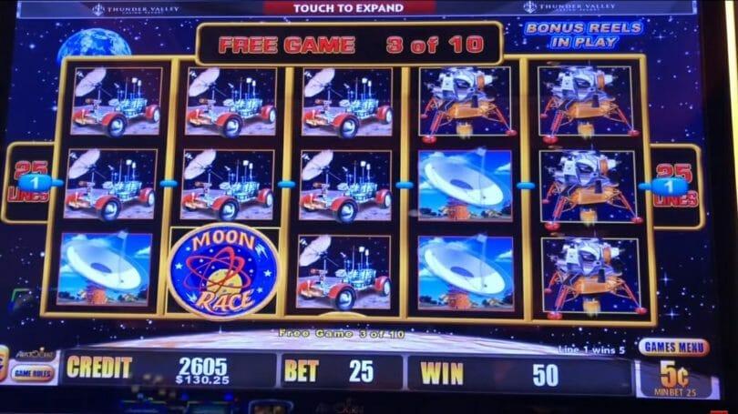 Lightning Link by Aristocrat Moon Race free spin bonus