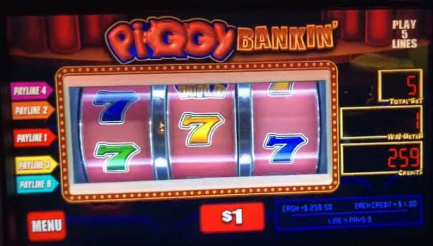 Piggy Bankin' three reel game