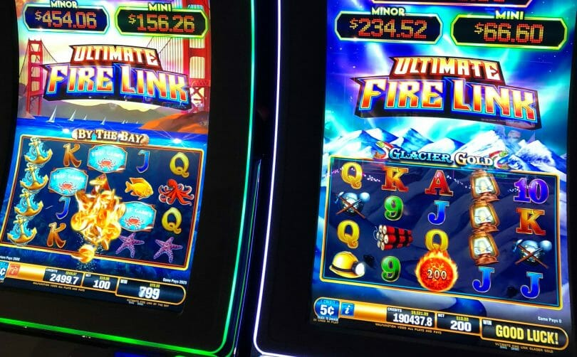 Ultimate Fire Link by Bally machines side by side
