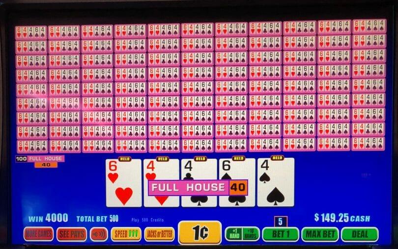 WMS hundred hand video poker