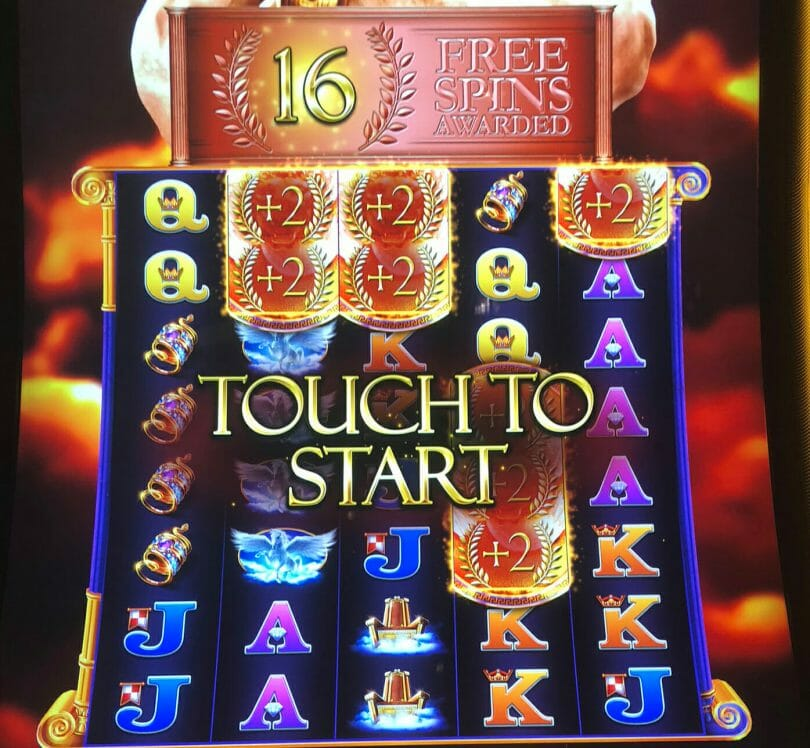 Kronos Unleashed by WMS 16 free spins