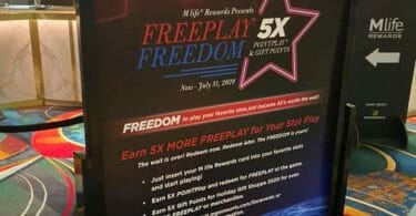 Mlife Rewards freeplay freedom promotion