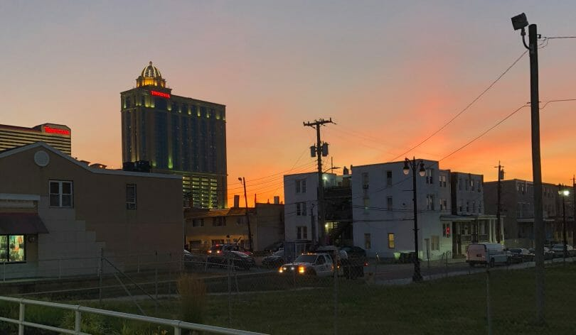 Tropicana Atlantic CIty at sunset