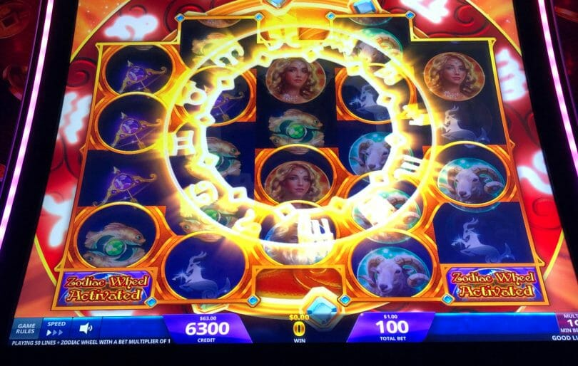 Zodiac Lion by IGT Zodiac Wheel activates