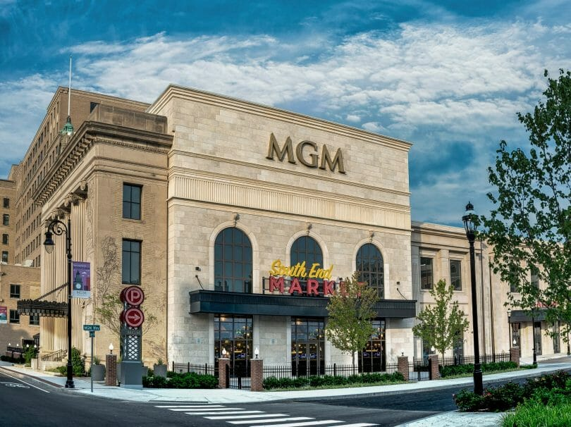 Exterior of MGM Springfield