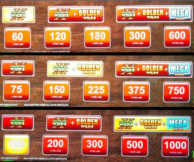 Lil Red Super Colossal Reels by Scientific Games golden bet panels