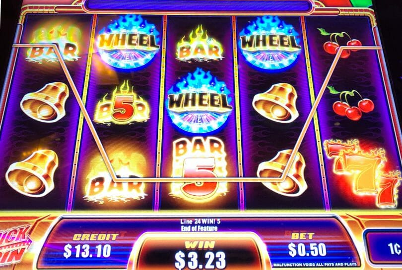 Quick Spin Super Hot 7s by Ainsworth wheel win