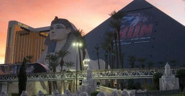 Luxor Las vegas external sunset shot