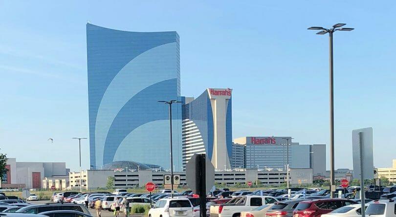 Harrah's Atlantic City from Borgata parking lot