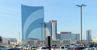 Harrah's Atlantic City from Borgata parking lot