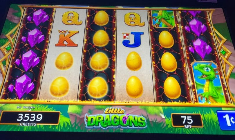 Little Dragons by WMS Jackpot Feature initiated