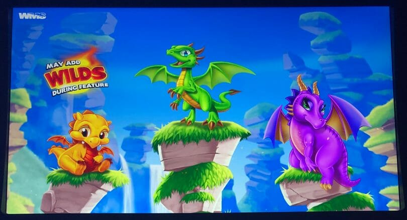 Little Dragons by WMS top screen