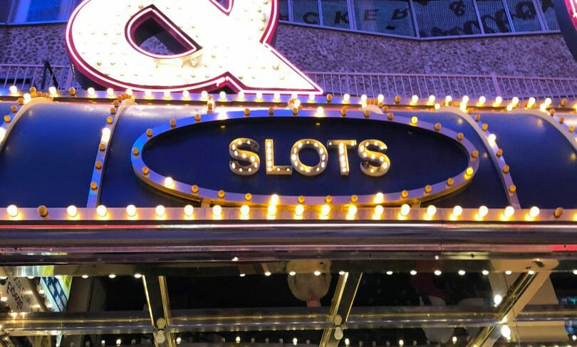slot machine marquee sign