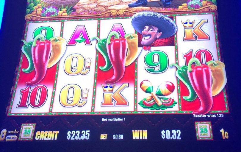Wild Fiesta Coins by Aristocrat free games triggered