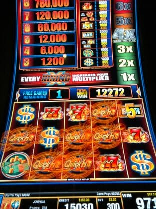 Quick Hit $600 bonus win at Empire City Casino