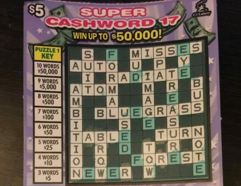 Super Cashword $5,000 winner